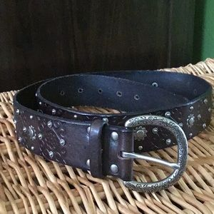 Fossil medium leather belt